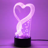 Best 3D Heart Love Night Lights 7 Color Change Led Table Lamp Valentine Day Gifts Intl