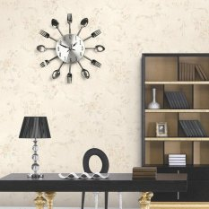 3D DIY Wall Clock Kitchen Cutlery Clocks Horloge Watch for Home Decor