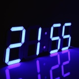 Retail Price 3D Large Remote Led Digital Wall Clock Countdown Thermometer Blue Intl