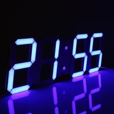How To Buy 3D Large Remote Led Digital Wall Clock Countdown Thermometer Blue Intl
