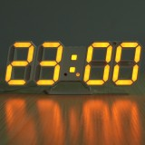 Sales Price 3D Led Digital Wall Clock Date Time Temperature Display Auto Desktop Usb Alarm Orange Red Intl