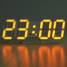 Discount 3D Led Digital Wall Clock Date Time Temperature Display Auto Desktop Usb Alarm Orange Red Intl Not Specified China