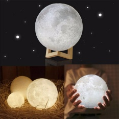 3D Moon Lamp Usb Led Night Light Moonlight Gift Touch Sensor Color Changing 12Cm Intl Promo Code