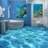3D Shimmering Waterwaterproof Floor Wallpaper Murals Wall Print Decal Wallpaper For Bathroom Intl Cheap