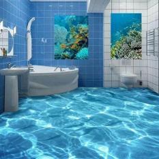 3D Shimmering WaterWaterproof Floor WallPaper Murals Wall Print Decal WALLPAPER for bathroom - intl