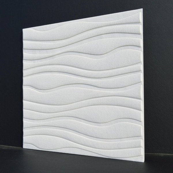 3D Wave Pattern Wallpaper Bedroom Living Room Modern Wall Background TV Decor