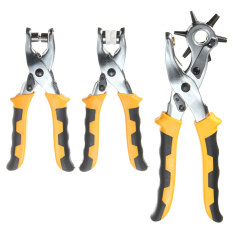 Best Rated 3In1 Leather Belt Hole Punch Eyelet Plier Snap Button Grommet Setter Tool Kit