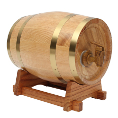 Brand New 3L Vintage Wood Oak Timber Wine Barrel For Beer Whiskey Rum Port Keg Storage Intl