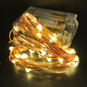 3M 30 LED Battery Operated Copper Wire - Warm White