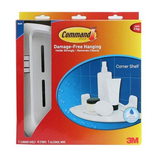 3m Command Bath Organization - White Corner Shelf (17627b) By 3m Official Store.
