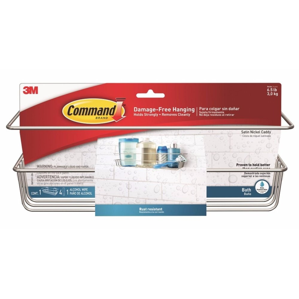 Buy 3M™ Command™ Satin Nickel Shower Caddy 3M Command Cheap