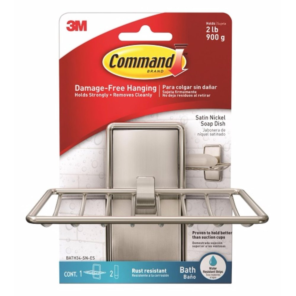 3M™ Command™ Satin Nickel Soap Dish Shopping