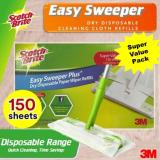 Cheaper 3M Scotch Brite™ Easy Sweeper Dry Wiper Bulk Pack 150 Sheets Floor Clean Best Buy Parquet Laminate Tile Magiclean