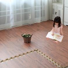 3PCS (31*31cm)Imitation Wood Foam Exercise Floor Mats Gym Garage Mats - intl