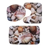 Buy 3Pcs 3D Flannel Print Non Slip Floor Mat Carpet Toilet Bathroom Pad Mats Stone Intl Cheap On Singapore