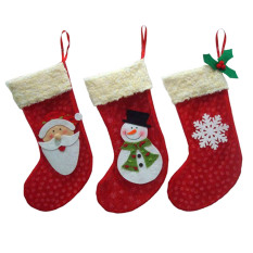 3pcs Christmas Stockings Socks Santa Claus Candy Gift Bag Xmas Tree Decor By Sportschannel.