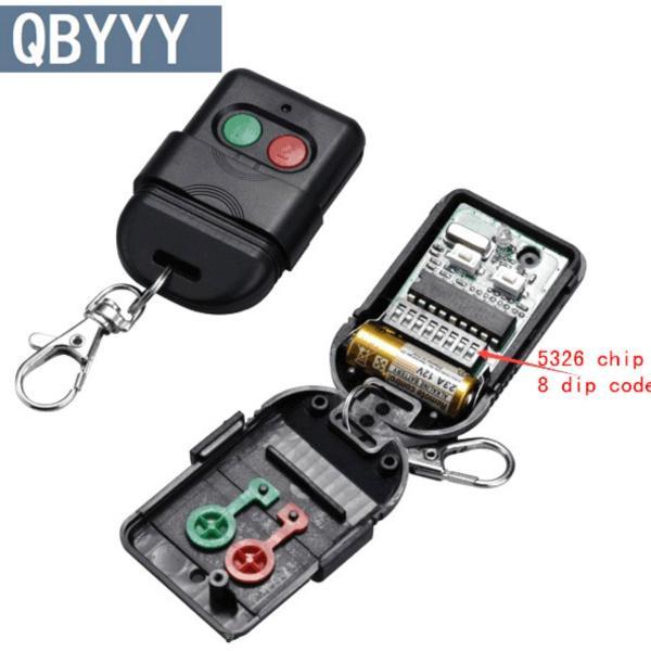 3pcs Singapore malaysia 5326 433mhz dip switch auto gate duplicate remote control key fob - intl