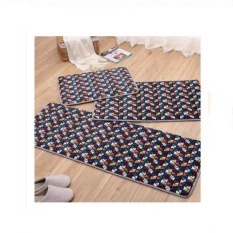 Price Compare 3Pcs Set Kitchen Carpet Rug Long Floor Mat Anti Slip Absorbent Soft Coral Velvet Bathroom Mats Carpets 40 60Cm 50 80Cm 40 120Cm Intl