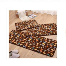 3pcs/set Kitchen Carpet Rug Long Floor Mat Anti-slip Absorbent Soft Coral Velvet Bathroom Mats Carpets 40*60cm +50*80cm +40*120cm - intl