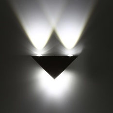 3W LED Aluminum Triangle Wall Lamp Modern Home Light Indoor/Outdoor Decor Lamps (Cool White) - intl