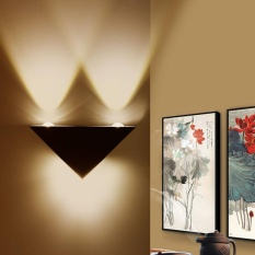 3W LED Aluminum Triangle Wall Lamp Modern Home Light Decor Lamps (Warm White) - intl