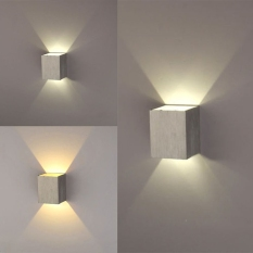 3W LED Square Wall Lamp Hall Walkway Living Room Light Fixture (White)