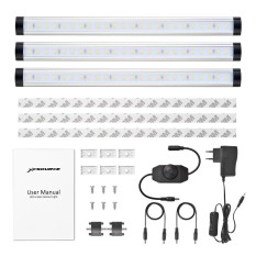 3x LED Linkable Kitchen 300MM Under Cupboard Shelf Cabinet Strip Light XC413DEC - intl