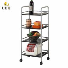 4 Layer Metal Mesh Multifunctional Storage Shelving Rack For Kitchen Living Room For Sale