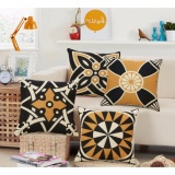 Price Comparisons For 4 Packs 1Set Decorative Retro Cushion Covers Sofa Pillowcase Cotton Linen Throw Pillow Covers 18 X 18 Intl