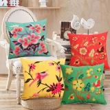 Coupon 4 Packs 1Set Decorative Vintage Flora Cushion Covers Sofa Pillowcase Cotton Linen Throw Pillow Covers 18 X 18 Intl