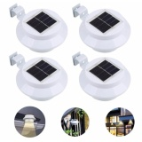Buy 4 Pieces Solar Powered Light Outdoor Garden Light Gutter Fence Led Lamp Warm Intl Cheap On China