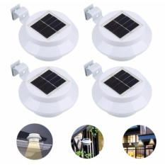 Price Comparisons Of 4 Pieces Solar Powered Light Outdoor Garden Light Gutter Fence Led Lamp Warm Intl