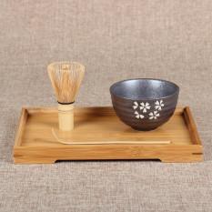 Best 4 Style Matcha Set Bamboo Matcha Whisk Chashaku Tea Scoop Matcha Ceramic Bowl Cherry Blossoms
