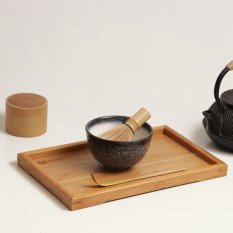 Low Cost 4 Style Matcha Set Bamboo Matcha Whisk Chashaku Tea Scoop Matcha Ceramic Bowl Mountains