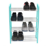Buy 4 Tier 12 Pair Shoes Space Saving Storage Organizer Stand Shoe Shelf Tower Rack Green Audew Intl On Singapore