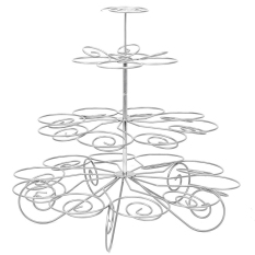 New 4 Tier 23 Cup Metal Christmas Tree Design Cupcake Display Stand Holder Party Supplies Intl