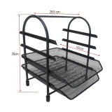 Best Deal 4 Tier File Document Letter Paper Tray Sorter Collection Office Desktop Organizer Holder Shelf Metal Mesh Black Intl