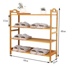 4 Tier Multipurpose Bamboo Storage Rack Shoe Rack For Home Kitchen Garden Lower Price