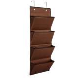 4 Tier Polyester Over The Door Hanging Organiser Storage Rack Bag Space Saver Brown Intl Sale