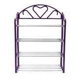 4 Tier Shoe Shoes Display Storage Organizer Rack Stand Shelf Holder Purple Coupon