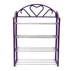 Purchase 4 Tier Shoe Shoes Display Storage Organizer Rack Stand Shelf Holder Purple
