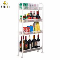 Price 4 Tier Storage Trolley Storage Rack Suitable For Kitchen Bathroom Laundry Singapore