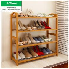Best Buy 4 Tiers Bamboo Bamboo Shoes Storage Rack Shoe Organizer High Heel Boot Storage Shoes Cabinet Multi Purpose Rack