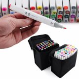 New 40 Color In 1 Marker Pen Set Graphic Art Twin Broad Fine Point Intl