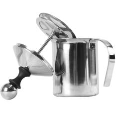 400ml Stainless Steel Double Mesh Milk Creamer Foamer Manual Milk Frother With Handle For Handmade Diy Milk Foam Cappuccino Latte Coffee - Intl By Stoneky.