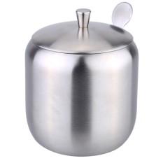 Latest 400Ml Stainless Steel Drum Shaped Cruet Seasoning Pot Jars Spice Racks Sugar Coffee Can Container