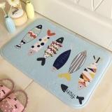 Price Comparisons 40 60Cm Entrance Door Mats Outdoor Indoor Anti Slip Floor Mat Fish Printed Bathroom Kitchen Carpet Doormats Intl