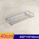 List Price 40Cm Single Tier Rectangle Bath Kitchen Rack Bathroom Shelf Space Storage For Kitchen Bathroom Stainless Steel Wall Mounted Storage Shelf Oem