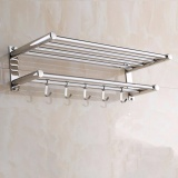 Where To Buy 40Cm 22Cm 15Cm Bathroom Shelves Two Layer Towel Holders Bath Towel Rack Bathroom Shelves Stainless Steel Intl