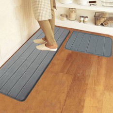 Review 40X120Cm Memory Foam Washable Bedroom Floor Pad Non Slip Bath Rug Mat Door Carpet Deep Grey Export China